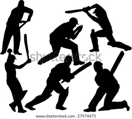 cricket player collection vector