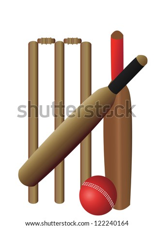 cricket set with two bats on a white background