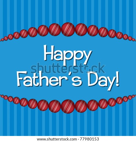 Cricket theme Father's Day card in vector format.