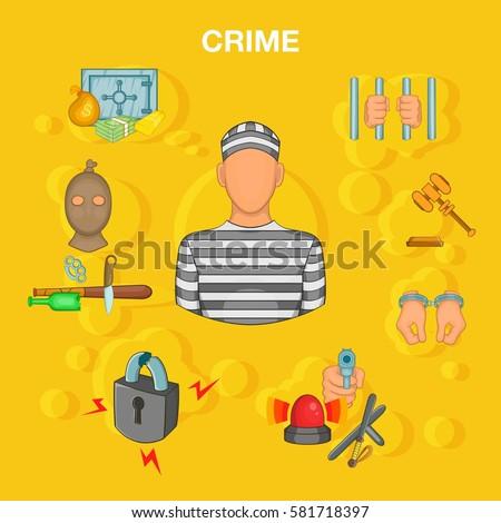 crime accident concept set