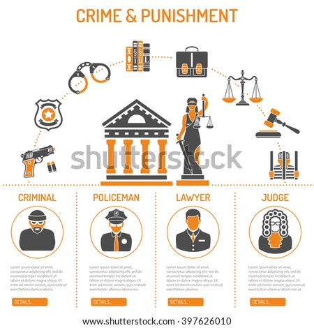 Crime and Punishment Vector Concept with Flat Icons