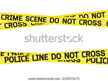crime scene danger tapes