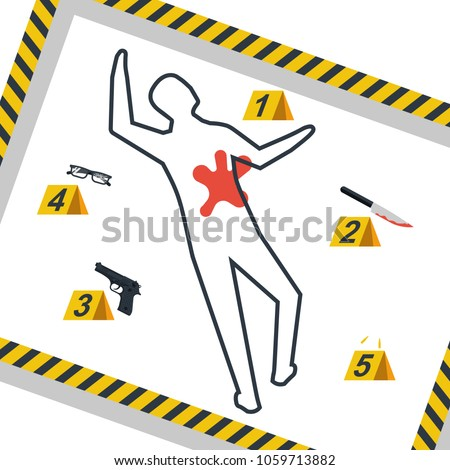 crime scene danger tapes