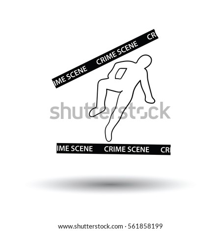 crime scene icon white