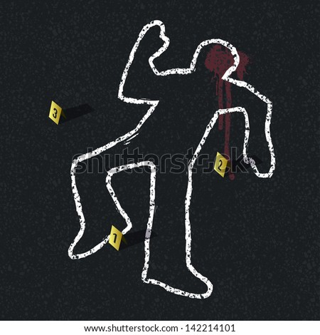 crime scene illustration  vector