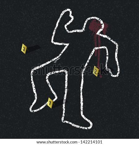 crime scene illustration  vector