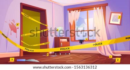 crime scene  murder place