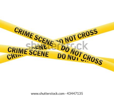 crime scene tape (vector) - stock vector