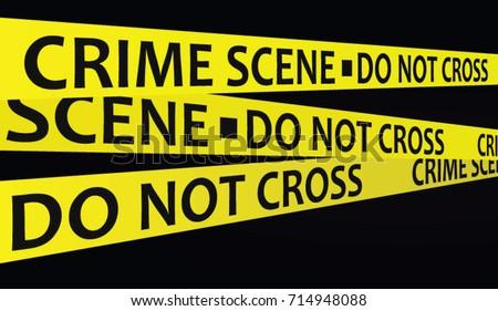 crime scene tape vector