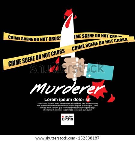 crime scene vector illustration