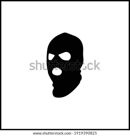 criminal mask black icon vector illustration Stock photo ©