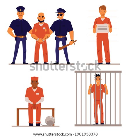 criminals and policemen in