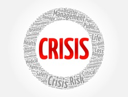 CRISIS word cloud, concept background