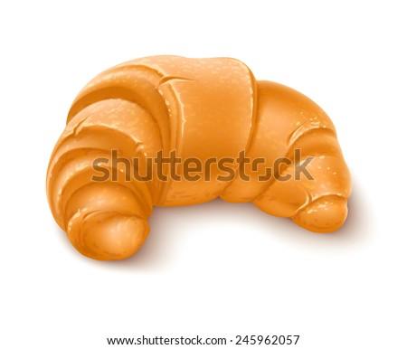 crispy croissant for breakfast