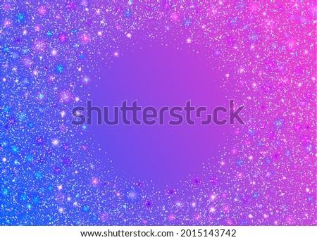 Cristal Confetti. Disco Multicolor Backdrop. Kaleidoscope Background. Fantasy Art. Party Element. Fiesta Foil. Light Glare. Purple Metal Texture. Blue Cristal Confetti Foto stock ©