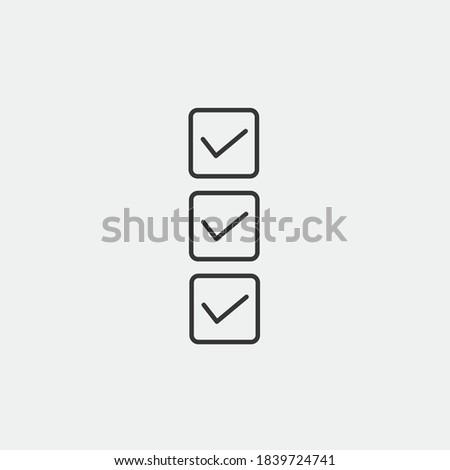 criteria vector icon box checked icon for qualification Stock photo ©