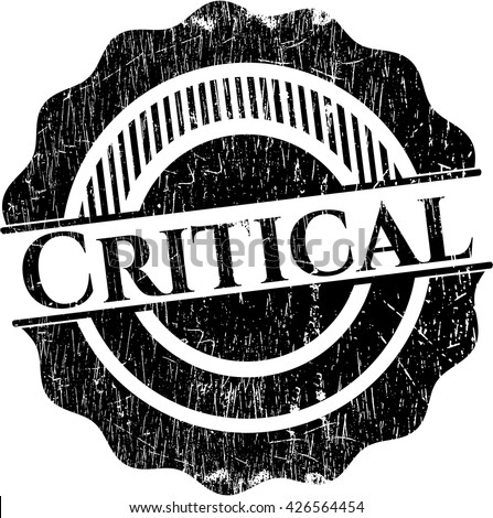 Critical grunge style stamp