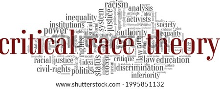 Critical Race Theory vector illustration word cloud isolated on a white background. ストックフォト ©