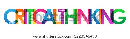 CRITICAL THINKING colorful letters banner