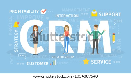 CRM concept illustration. Idea of inbound marketing. #1054889540