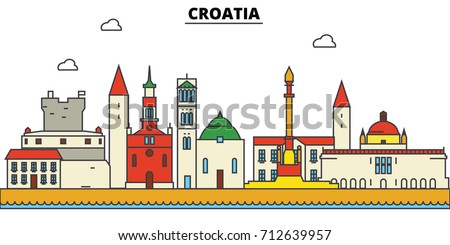 croatia  croatia. city skyline  ...