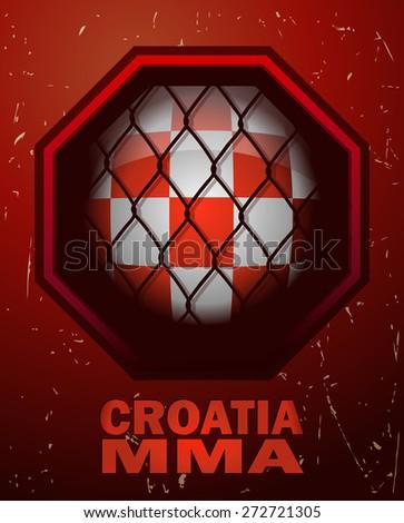 croatia mma octagon sign