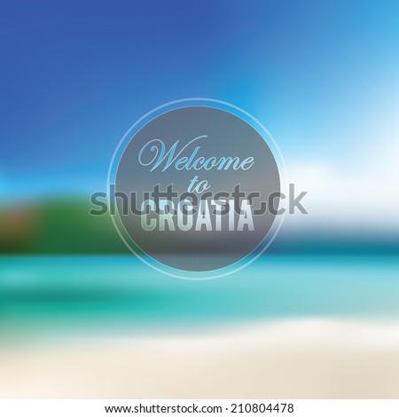 croatian beach blurry landscape