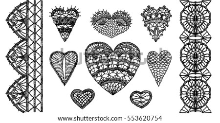 crochet hearts  crafts