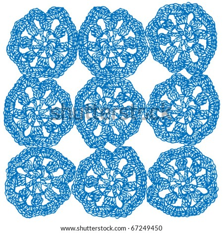 Crochet Stitches Vector : Seamless Crochet Book - Learn How to Do Seamless Join-As-You-Go