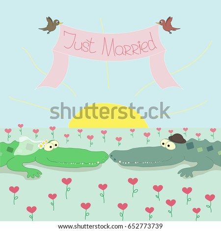 crocodile bride and crocodile