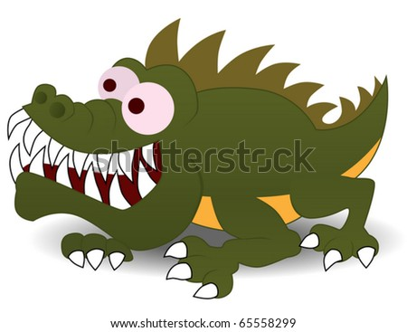 Crocodile cartoon character illustration
