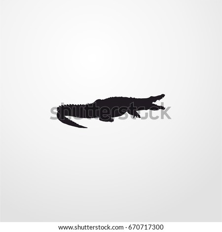 crocodile icon. vector sign symbol on white background