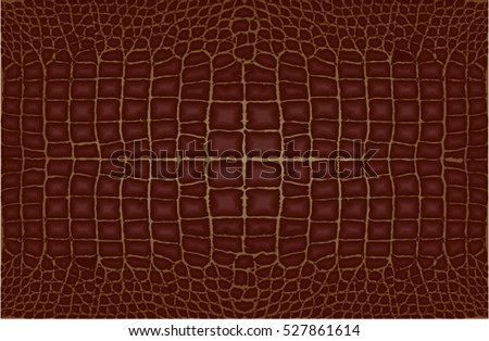 Crocodile leather brown skin pattern.