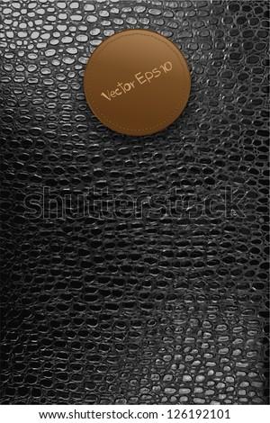 crocodile leather texture background, Vector template design
