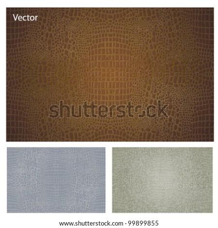 crocodile leather textures set