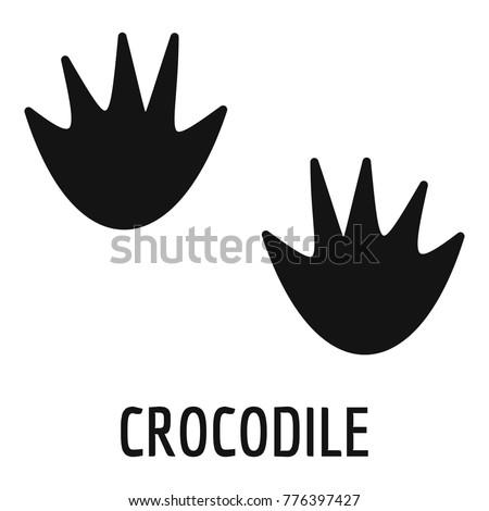Crocodile step icon. Simple illustration of crocodile step vector icon for web
