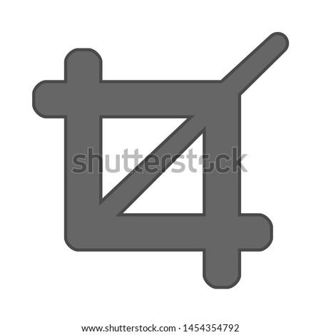 crop icon. flat illustration of crop. vector icon. crop sign symbol