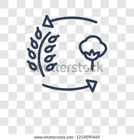 crop rotation icon. Trendy crop rotation logo concept on transparent background from Agriculture Farming and Gardening collection