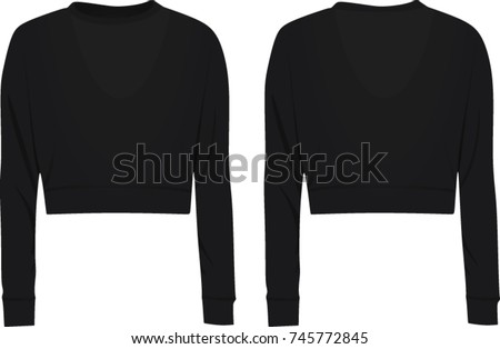 Crop sweater. vector illustration
