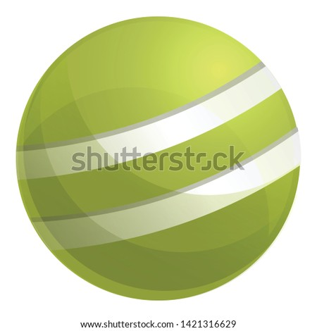 Croquet green ball icon. Cartoon of croquet green ball vector icon for web design isolated on white background