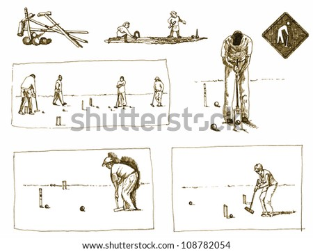 croquet - hand drawing converted to a vector