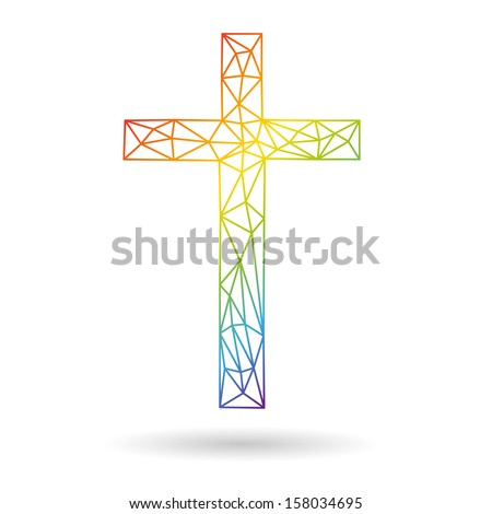 Cross abstract isolated on a white backgrounds