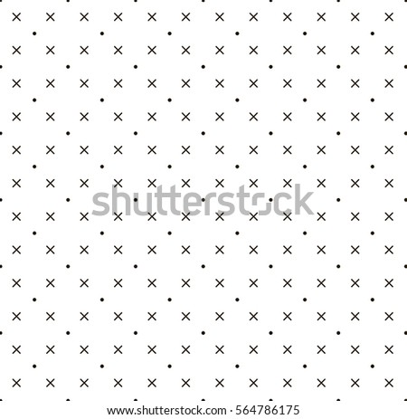 Cross and dot pattern white background vector.