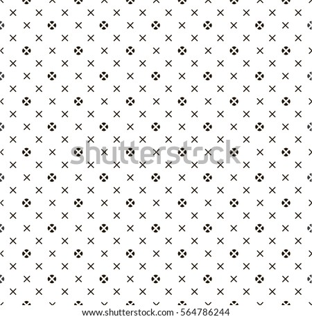 Cross and dot. Vector background.