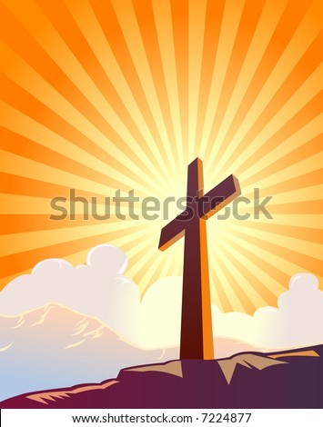 cross and sunburst with