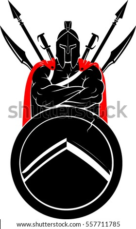 cross armed spartan