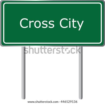 cross city   florida  road sign