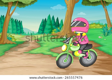 cross country motorbike in the