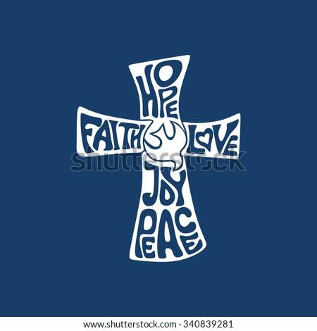 cross faith  hope  love  joy
