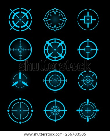 cross hair icons vector